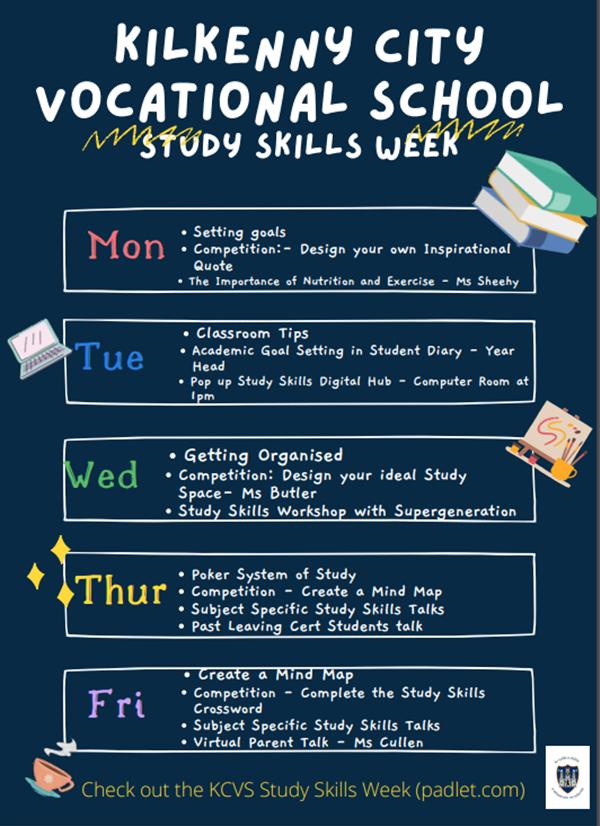 Study Skills Week- 20th October - 24th October
